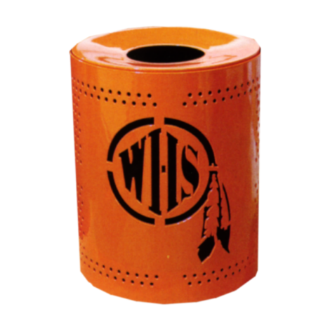Personalized32GallonPerforatedReceptacle